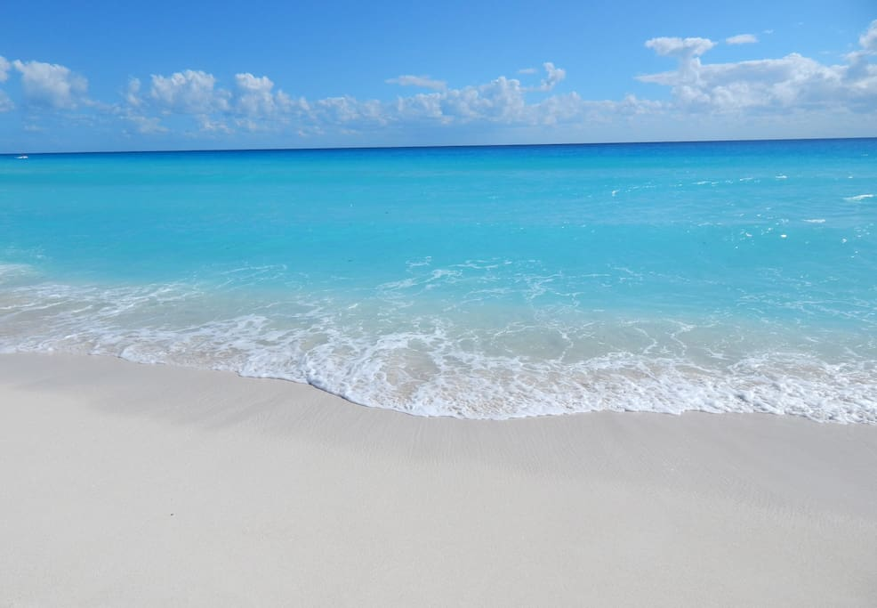 Our beautiful white sand beach - walk for miles in each direction