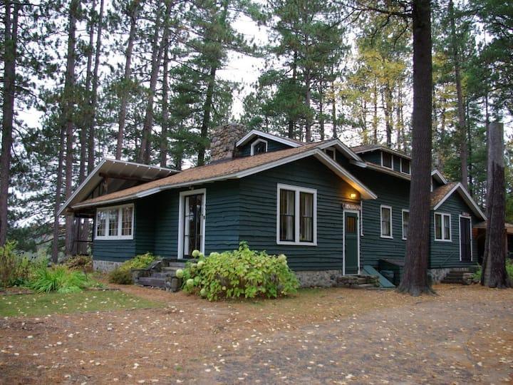 PRESIDENT'S CABIN  at White Pine Camp. - Lake View