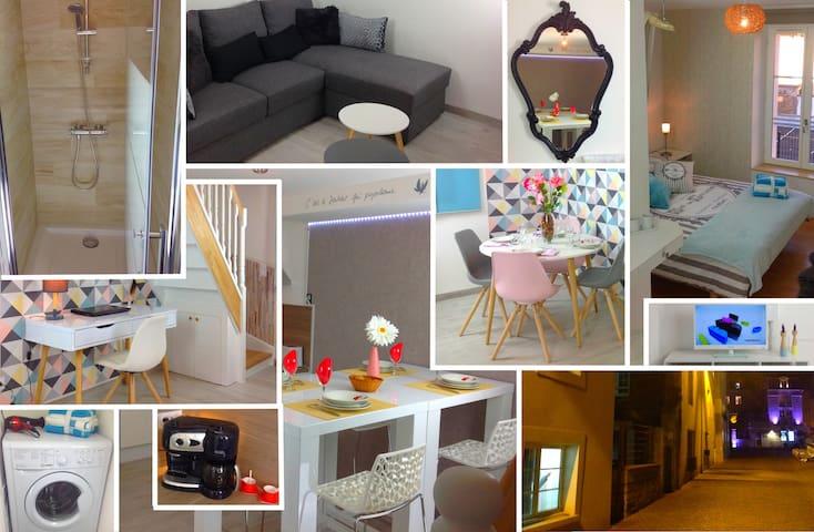 Triplex, Bel appartement de 50 m² sur 3 niveaux - Caen - Apartament