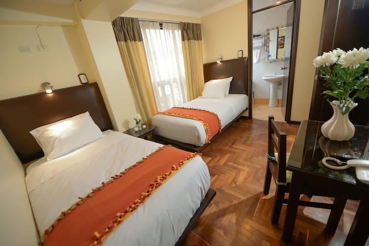 Tecte Guest House. Twin bed room