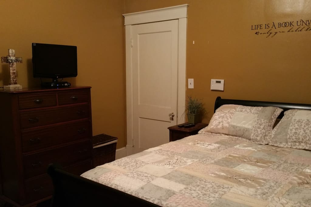 Private bedroom w/cable. Pillow top mattress!!!