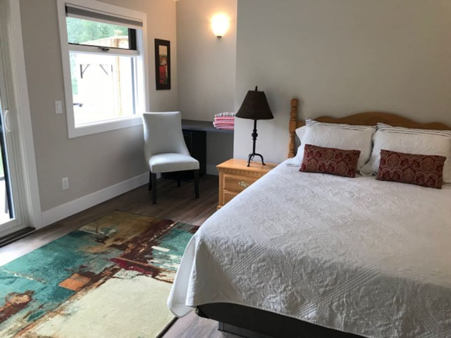 Unit #1: newly renovated bedroom with private bathroom and balcony