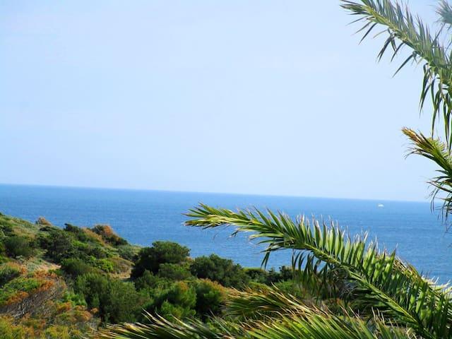 Villa AZURE SUNRISE 40m. from the sandy beach. - Sunio  - Casa