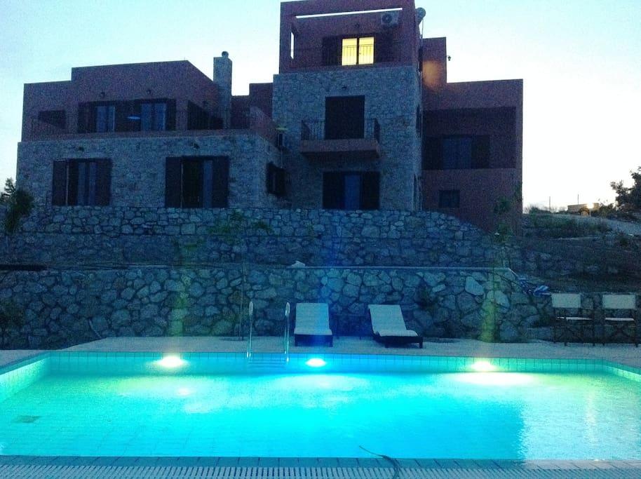 Rhodes Retreat at dusk