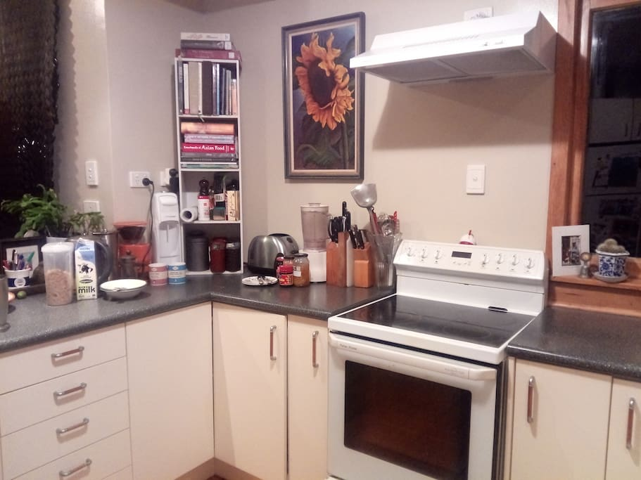 Your free breakfast, and you can cook in our kitchen