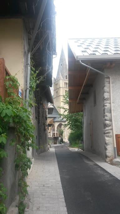 L'église vue de la maison