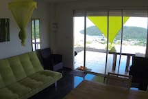 Studio with dream look, pool, Terrassee