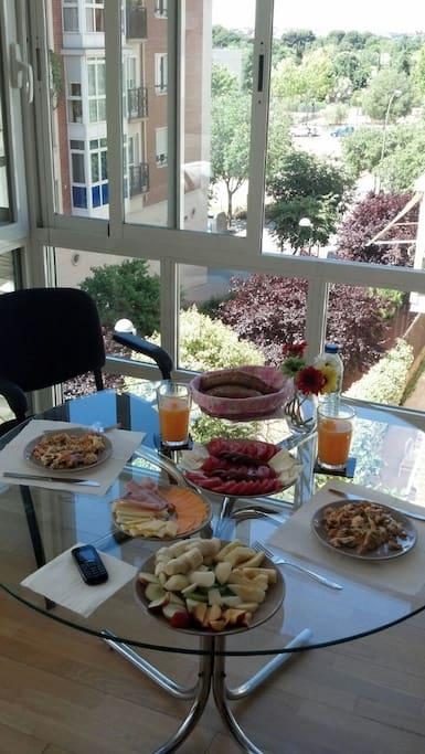 ¡Desayunar casi en un jardín!