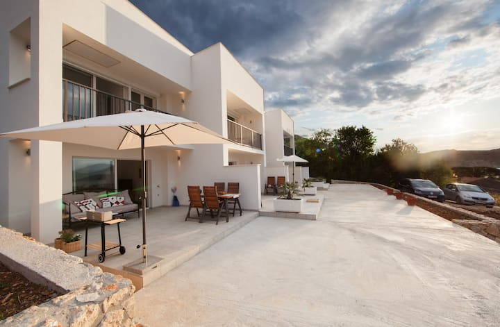 Duplex apartment with heated pool