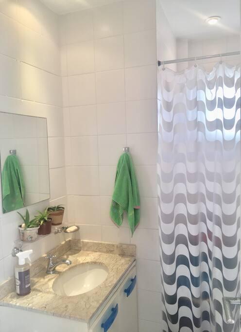 Banheiro exclusivo para hóspedes