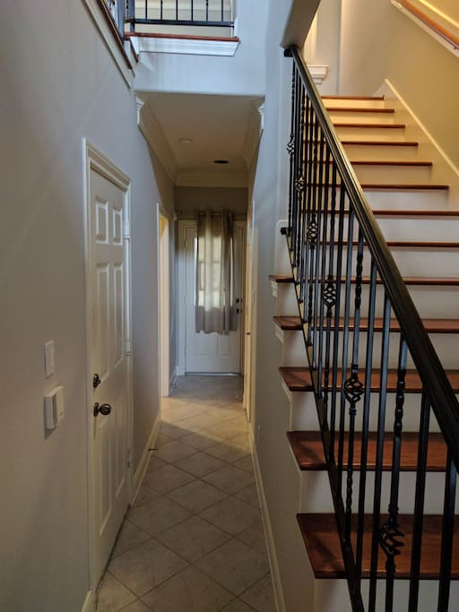 Private room on 1st floor of townhome w/ access to living space on 2nd floor