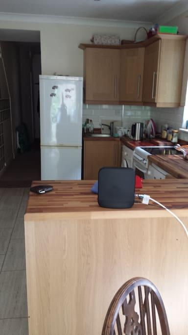 Communal Kitchen with washing machine