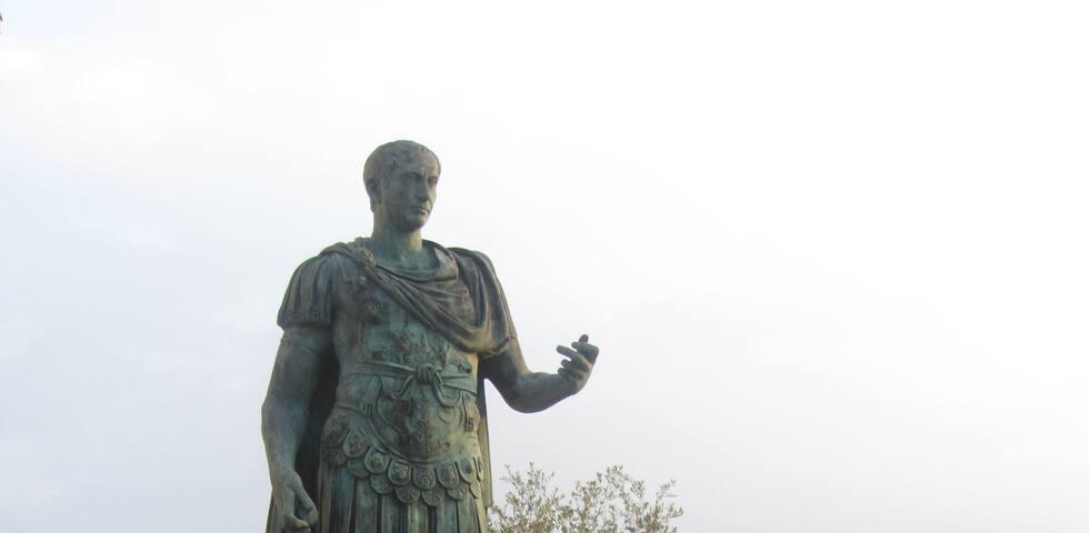 Sulle orme di Cesare