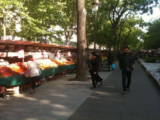 Street market in the neighborhood