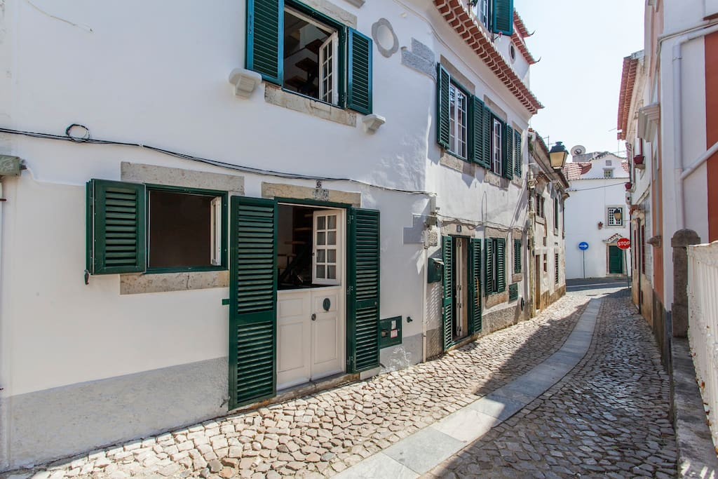 Rua dos Navegantes is a typical road from Cascais Historical Center