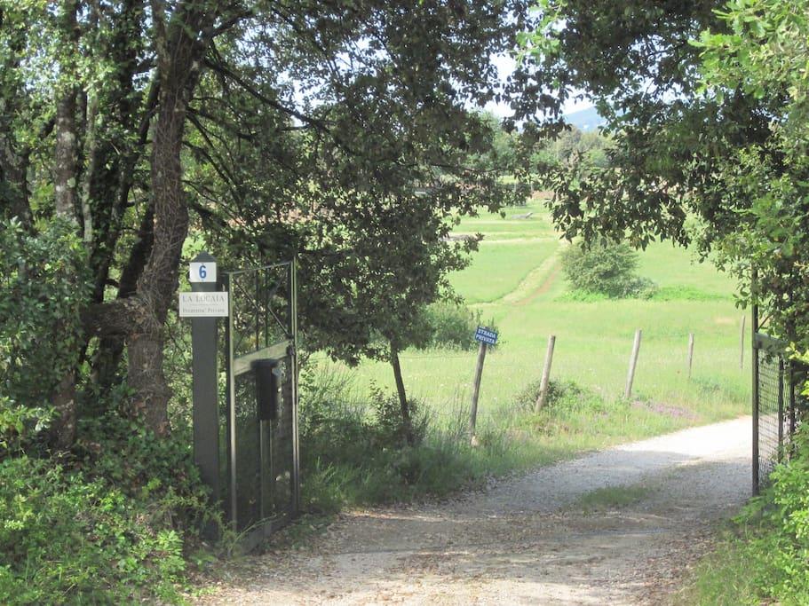 ingresso alla proprietà