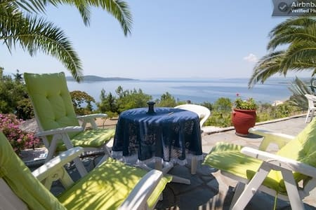 Athos Apartment in Villa with million dollar view