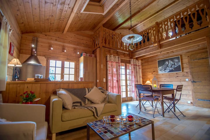 Cosy chalet 50m from lake Annecy. Private garden