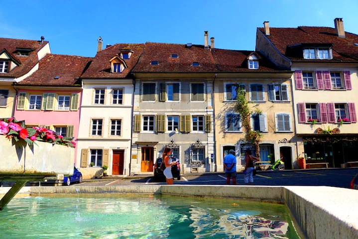 ⭐⭐⭐⭐⭐ Priv house in the old town 30 min from Basel