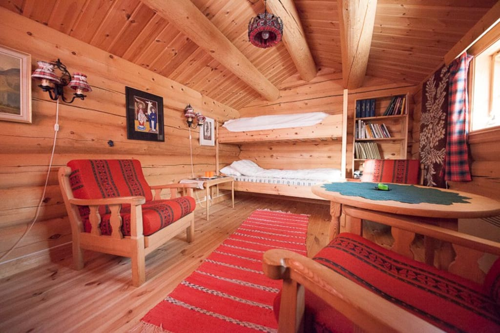 Bunk bed and seating area