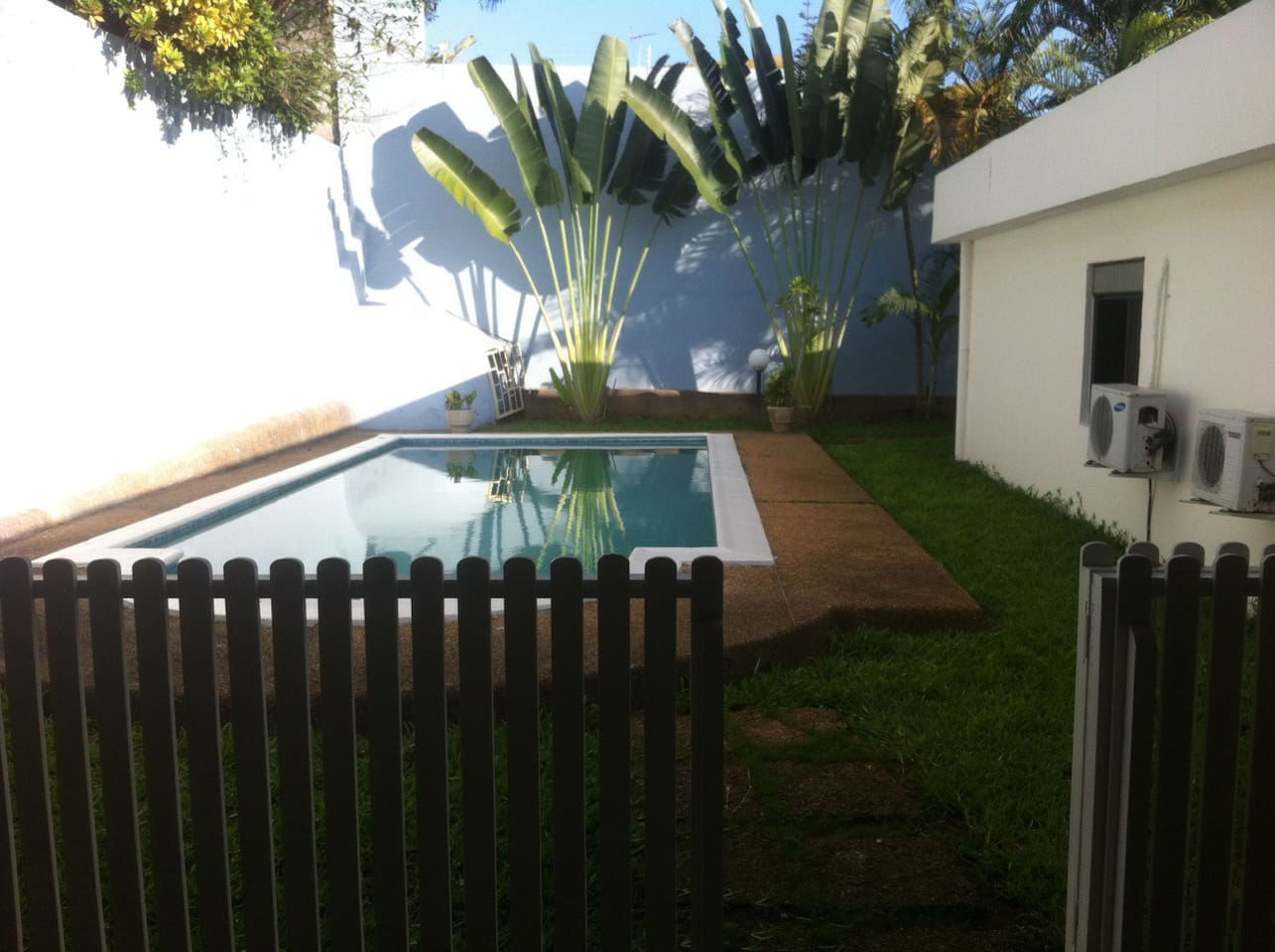 pool in front of terrace (back of the house)