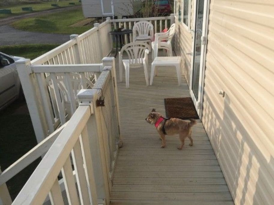 Spend lazy summer evening on the deck