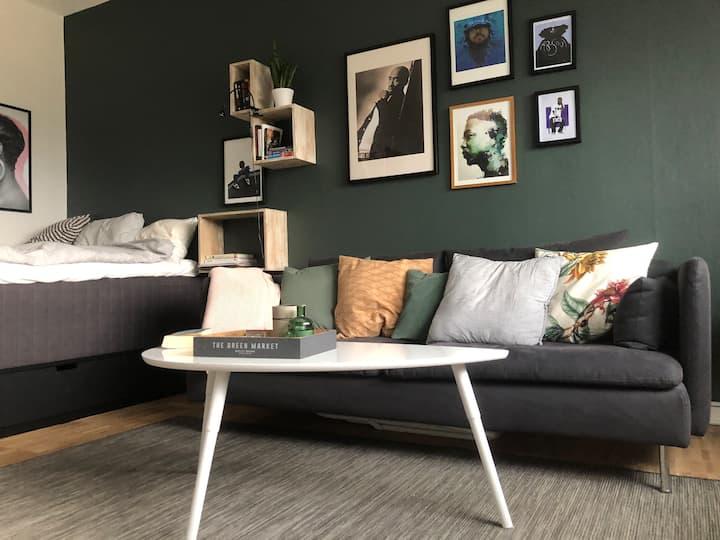 Cozy studio w/ balcony close to Globen/Sodermalm