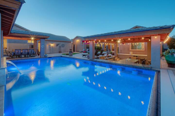 NEW: AMAZING Backyard w/Resort Amenities; Divine 7 BR, 4 BA Home; Great Locale!