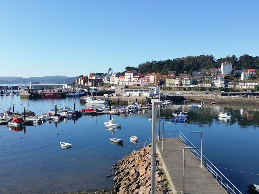 Vista del puerto desde el balcón