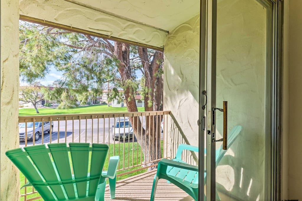 You'll have vibrant views of the golf course from the private balcony!