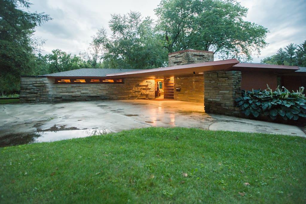 Frank Lloyd Wright S Kinney House Houses For Rent In