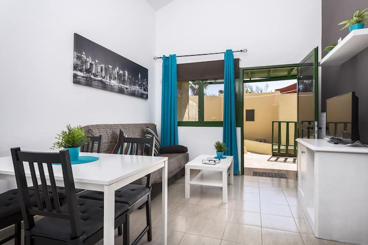 Charming Bungalow in Costa Calma Close to Beach with Patio & Wi-Fi; Parking Available