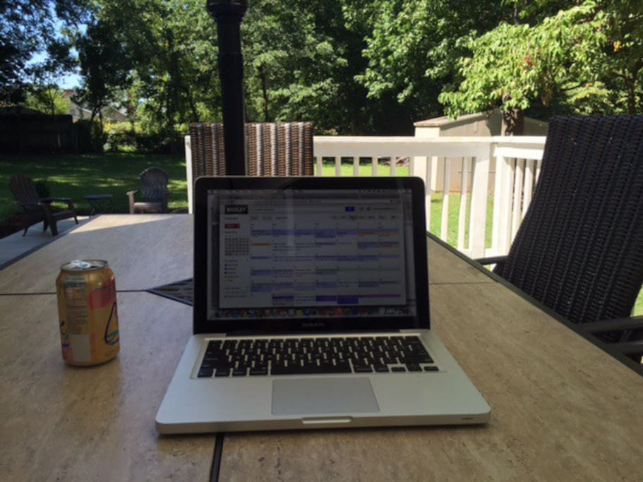 If you have to work, the deck is a great place to do it