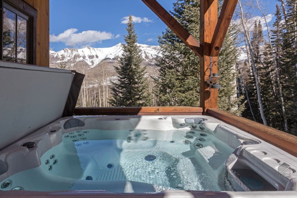 Not to mention some pretty spectacular views from your private hot tub.