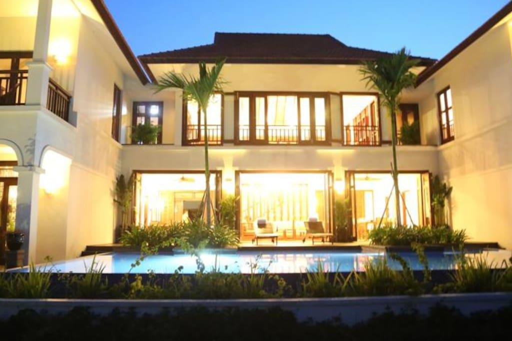 With a big private swimming pool