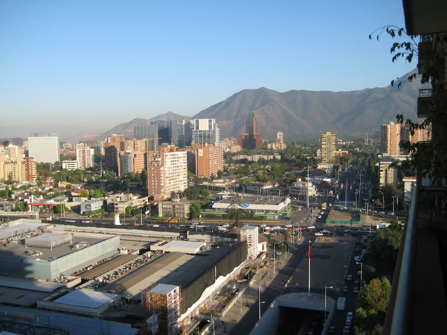 Vista panoramica desde la terraza hacia el Norte