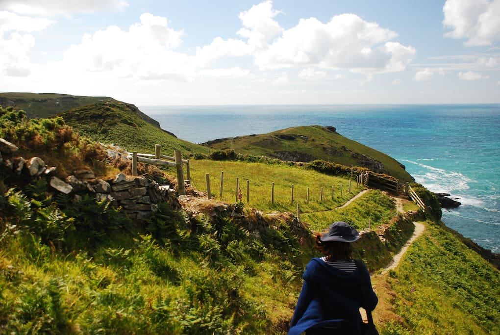 Coastpath from the cottage