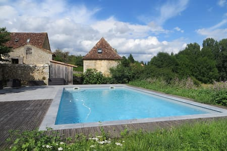 Authentic Tour with pool , Périgord , Dordogne - Lamonzie-Montastruc - 土房