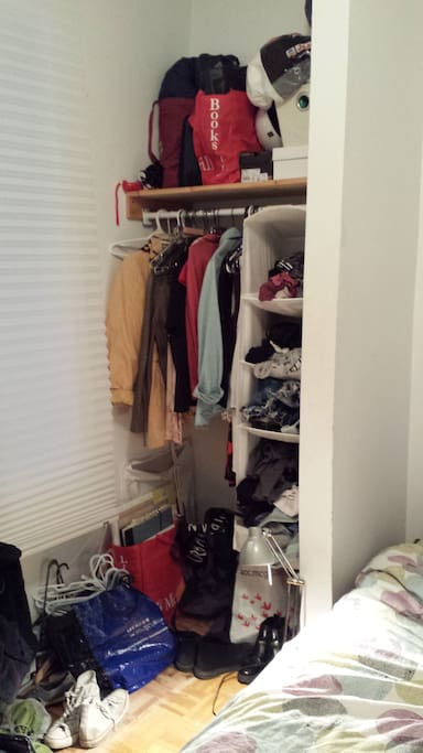 Closet space (empty when you get there) for putting your things!