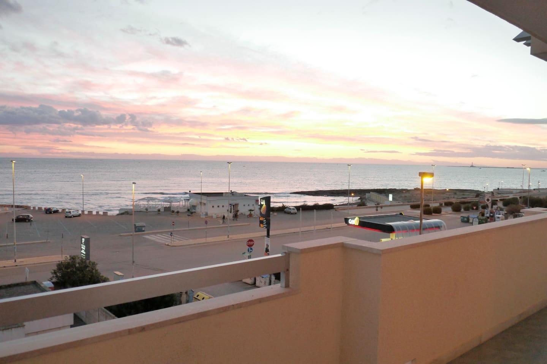 Balcone panoramico vista mare