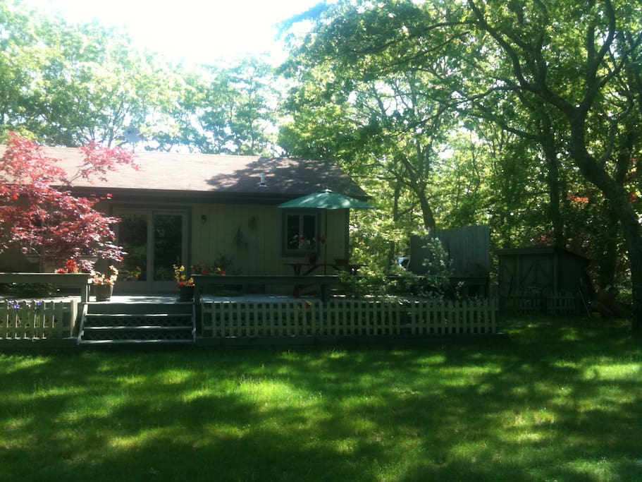 Grill, dine or enjoy a drink on the large, shaded back deck