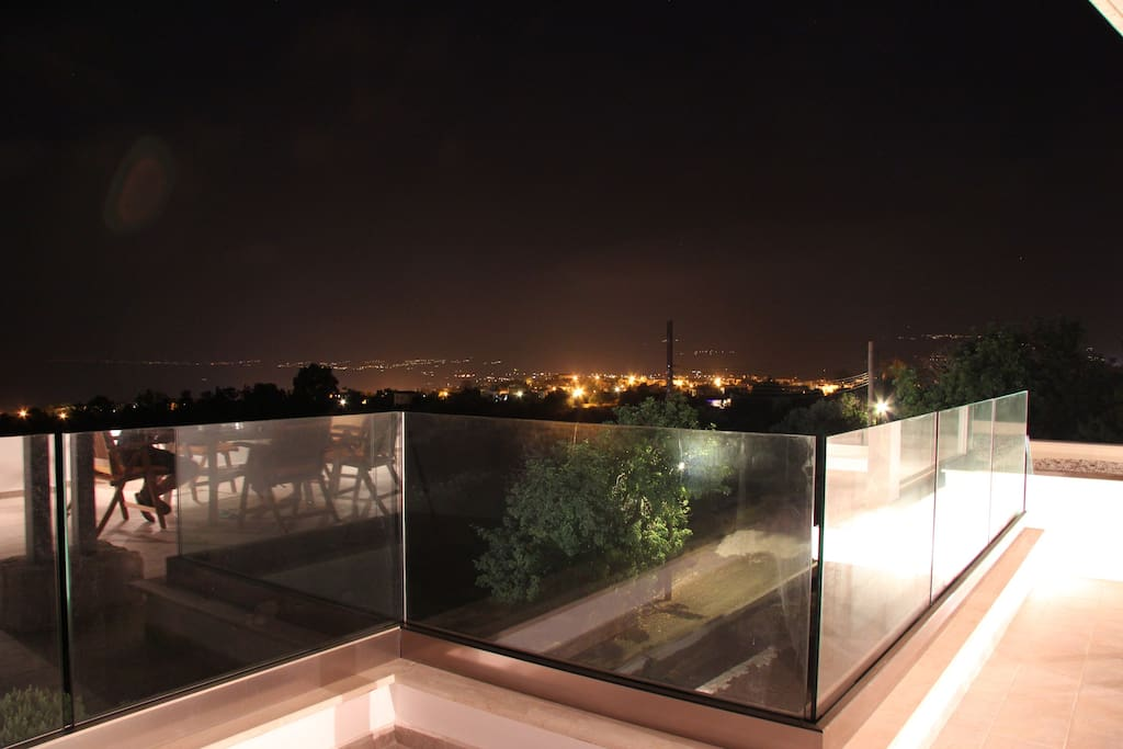 Romantic nights on the roof terrace with the view of Polis Chrysochous bay