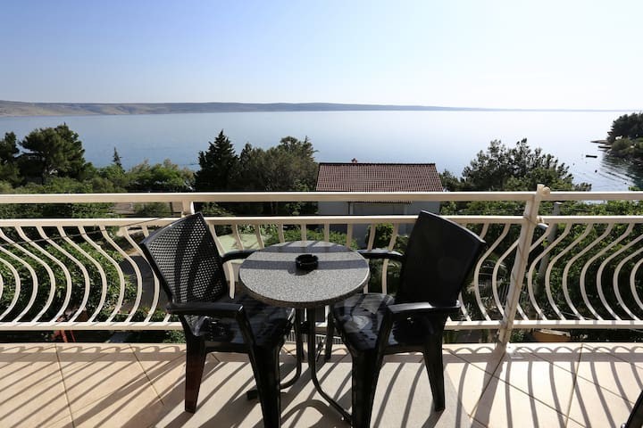 Amazing view from apartment - Starigrad - Apartamento