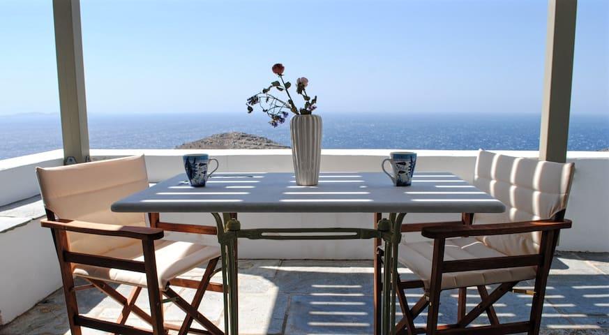 Aegean panorama near the beach, town & attractions