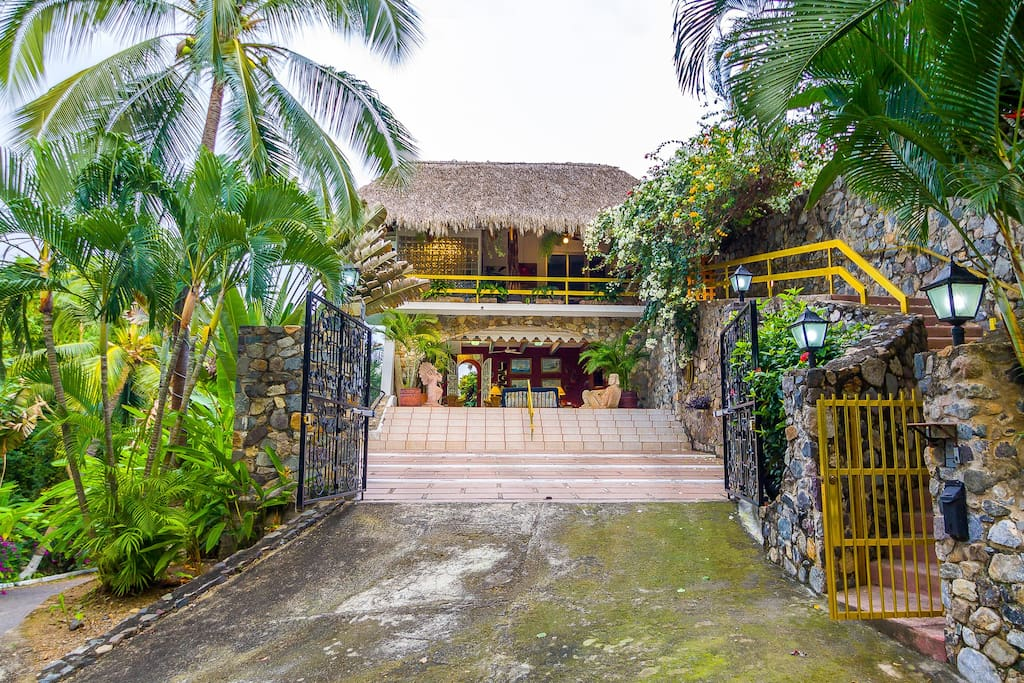 Gated Main Entrance and Private Entrance on Right