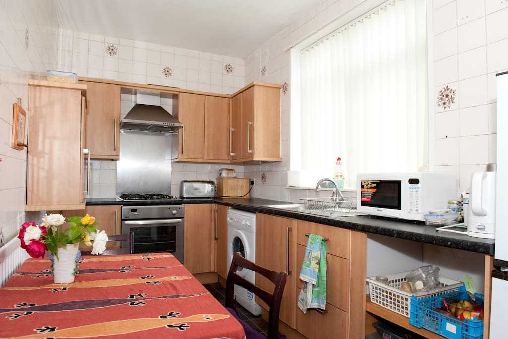 Kitchen with cooking facilities available for your use