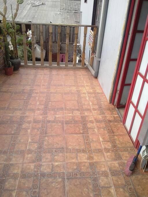 patio ideal para una parrilla o compartir al aire libre