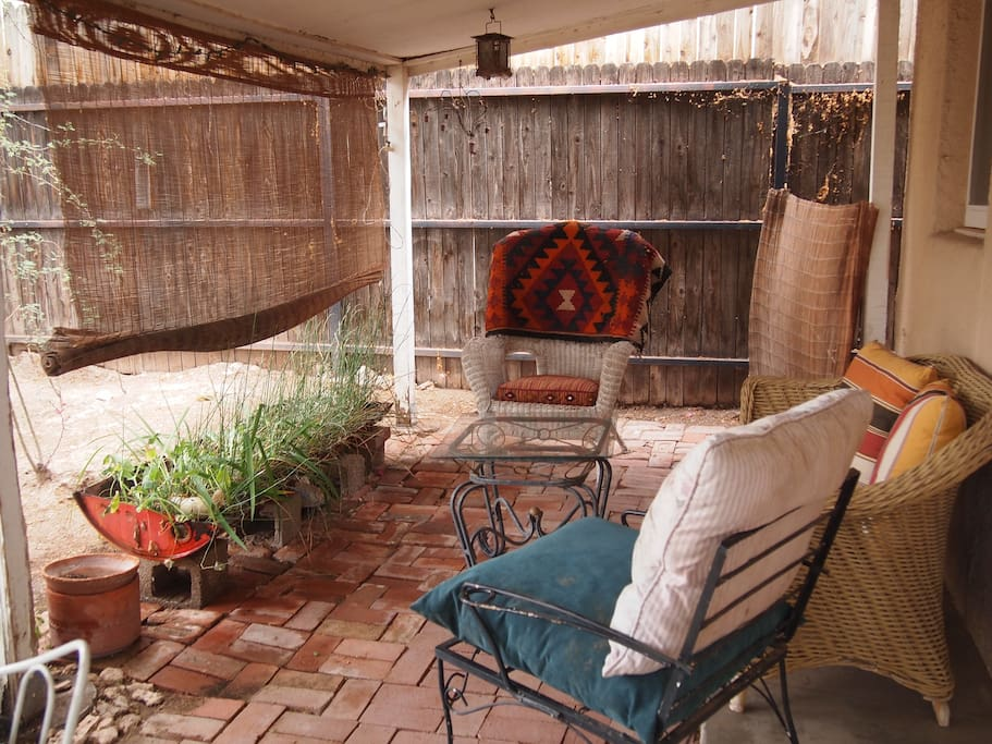Front porch, seating area