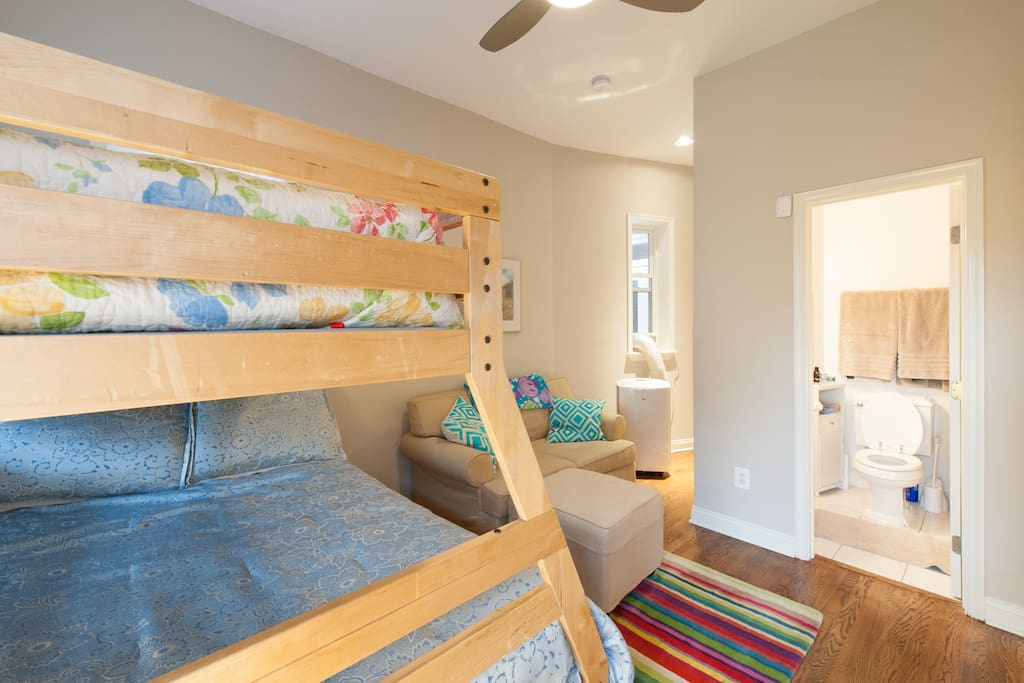 Comfortable private bedroom and bathroom!