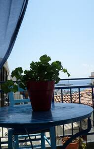 Kamara Rooms- Blue, sea view. - Tinos